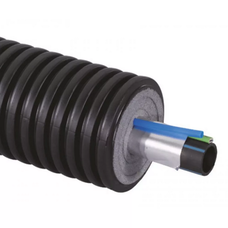 Теплоизолированные трубы Uponor Supra Plus диаметр 40 мм 150 м с греющим кабелем